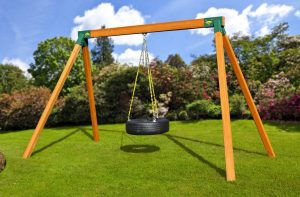 Eastern Jungle Gym 3-Chain Rubber Tire Swing