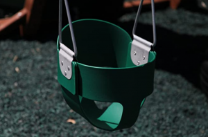 Swing Kingdom Green Rubber Infant Swing